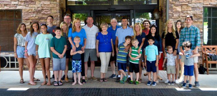 Suellen estes and her family. Four Married Children, 14 Grandchildren, and one Great Grandchild.